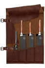 Chief's Dark Brown Leather Knife Roll 5 - The Emperor's Lane