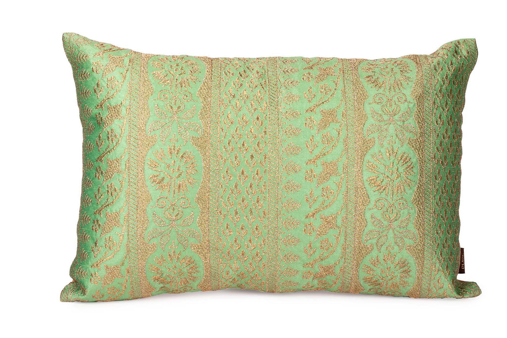 Zari Green Pillow - The Emperor's Lane