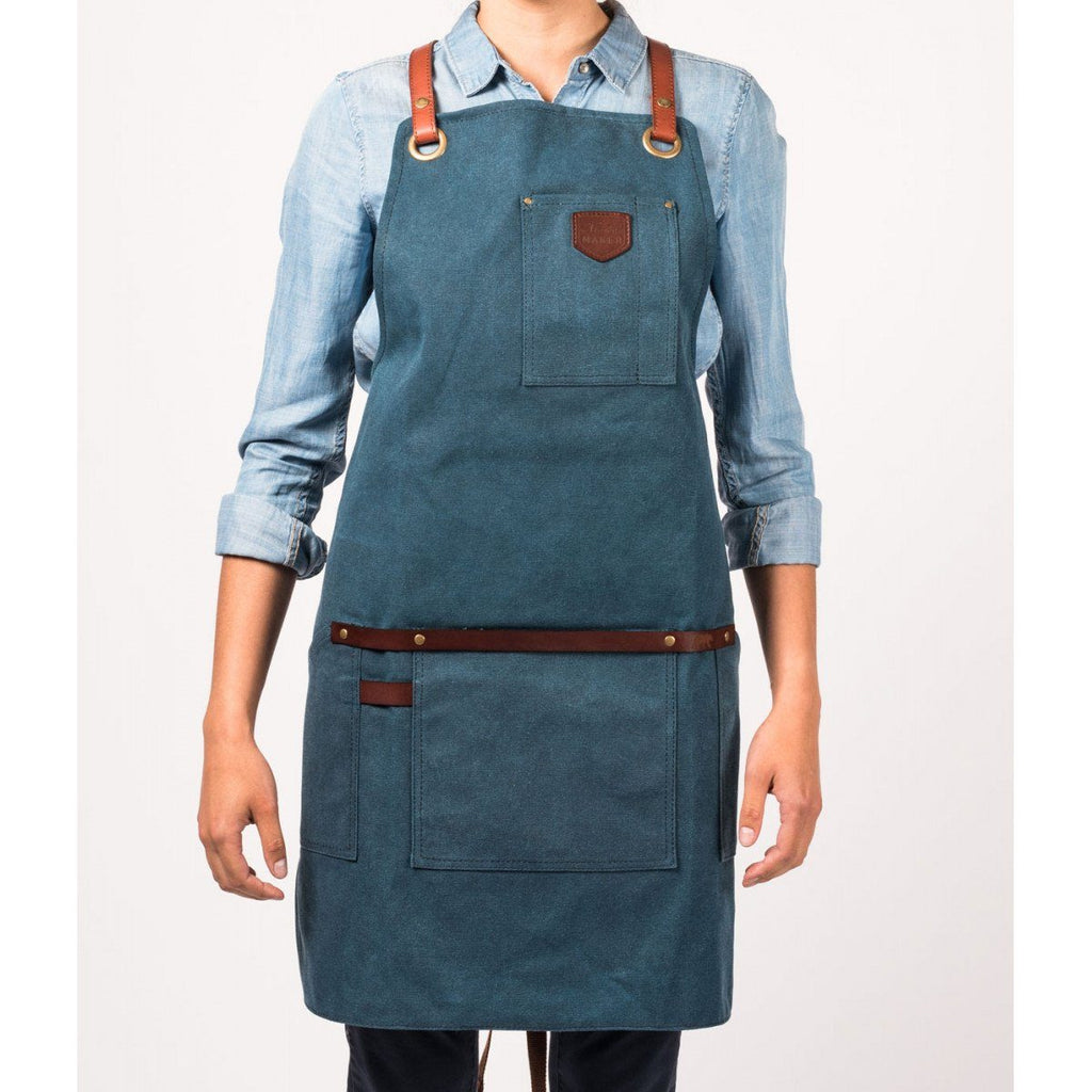 Canvas Apron, Peacock Blue Apron Alaskan Maker