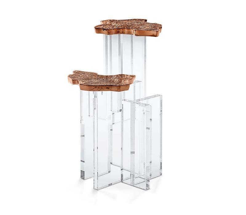 Monet Copper Side Table - The Emperor's Lane