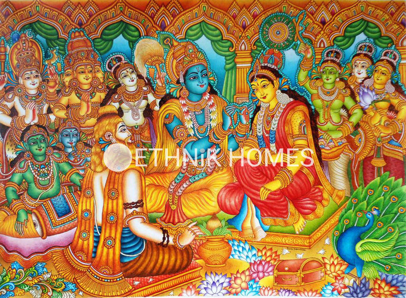 Marriage of Krishna and Rukmani