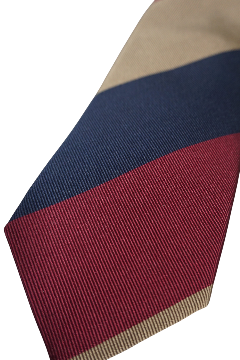Oversized regimental Wine stripe Tie
