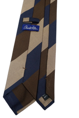 Oversized regimental Stripe Brown Tie
