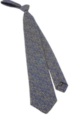 Navy/Gold Floral Tie