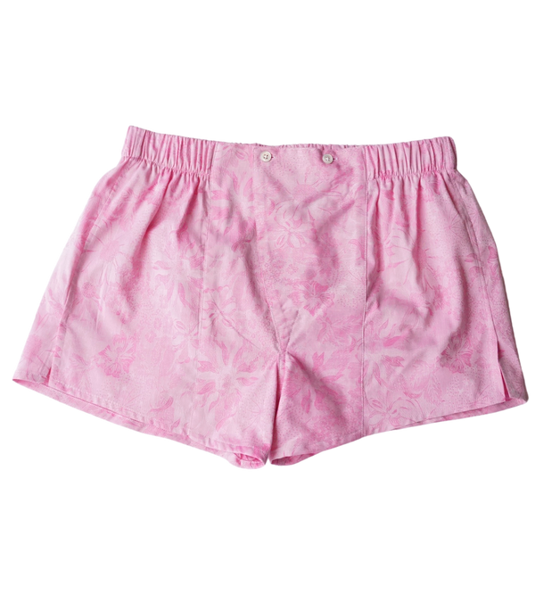 Floral Pink Cotton Boxers