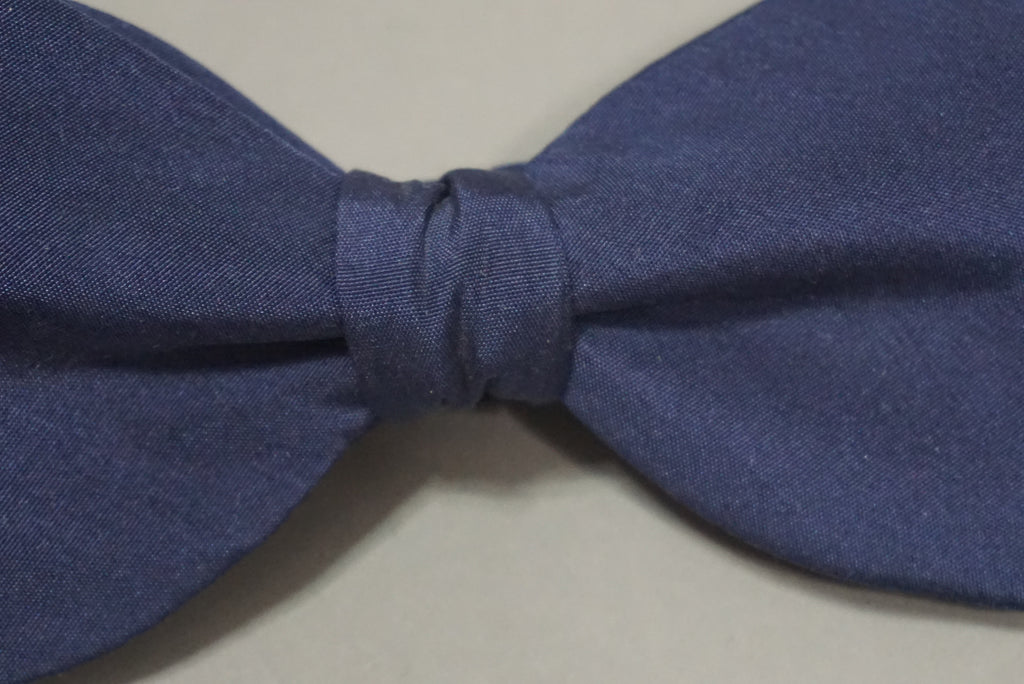 Raw Silk Bow Tie