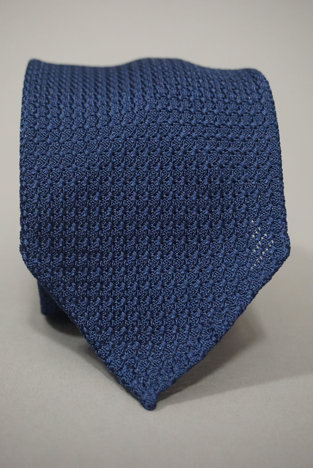 Navy Handrolled Silk Tie