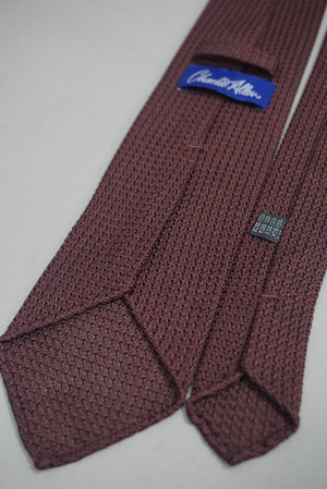 Maroon hand rolled tie