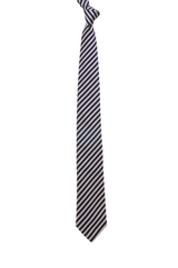 Pink and Navy Stripe Silk tie