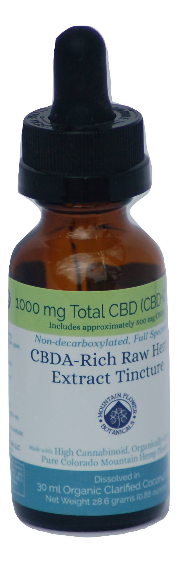 1000mg CBDA-Rich Raw Hemp Extract Tincture