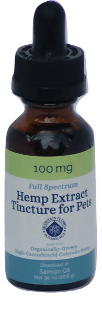 100mg Full Spectrum Hemp Extract Tincture for Pets (Made with Salmon Oil)