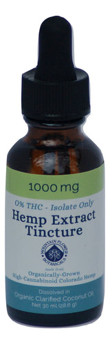 Hemp Extract Tincture 0% THC (Isolate only)