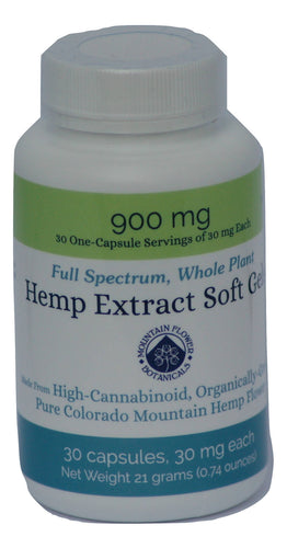 Hemp Extract Soft Gels