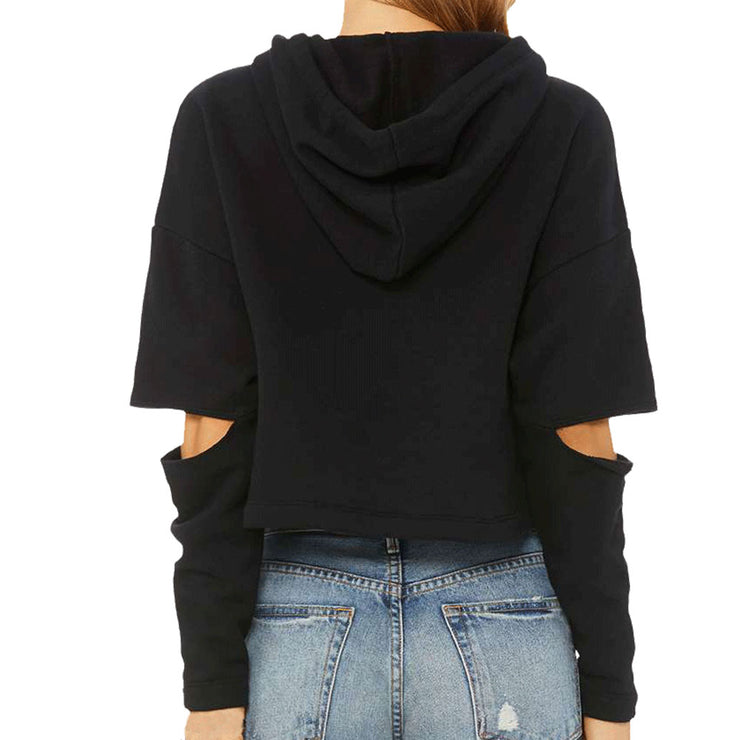 Andorfins The Jackie Cut Out Sweatshirt Hoodie - Black