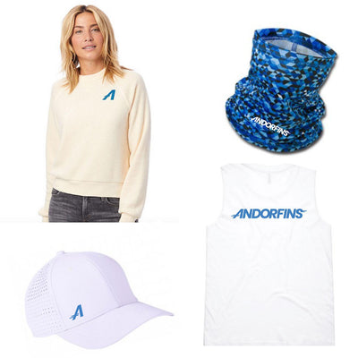 Andorfins The Flow Bundle - Sweatshirt, Hat, Neck Gaiter, Tank Top