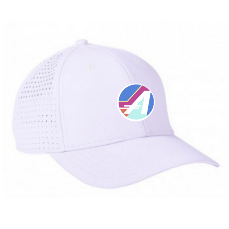 "THE ULTRA PERFORMANCE ""A"" HAT in White"