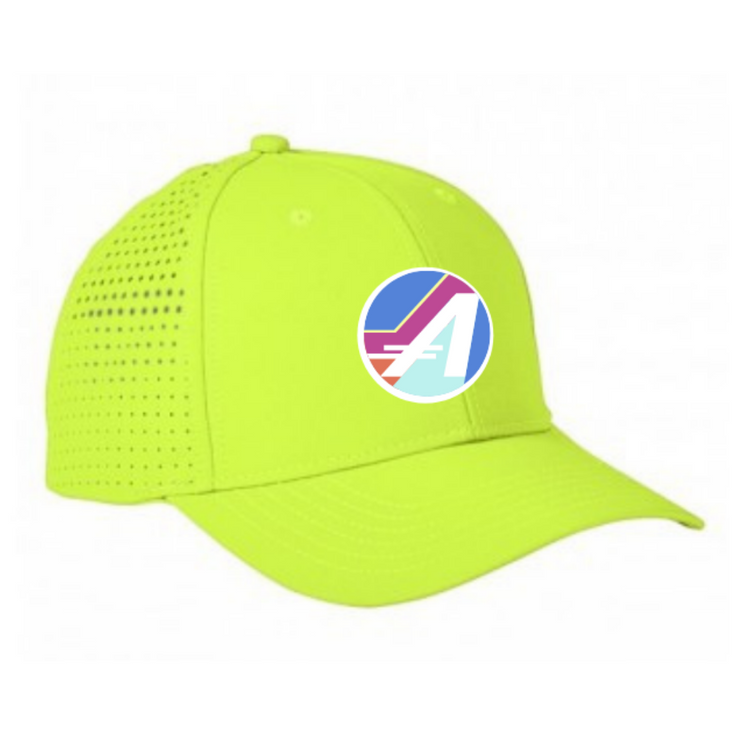 "THE ULTRA PERFORMANCE ""A"" HAT IN NEON"