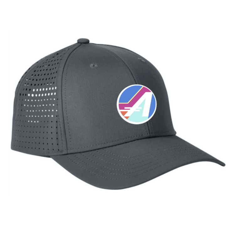 "THE ULTRA PERFORMANCE ""A"" HAT IN GRAY"