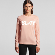 THE SLAY LONG SLEEVE CREWNECK in Pink
