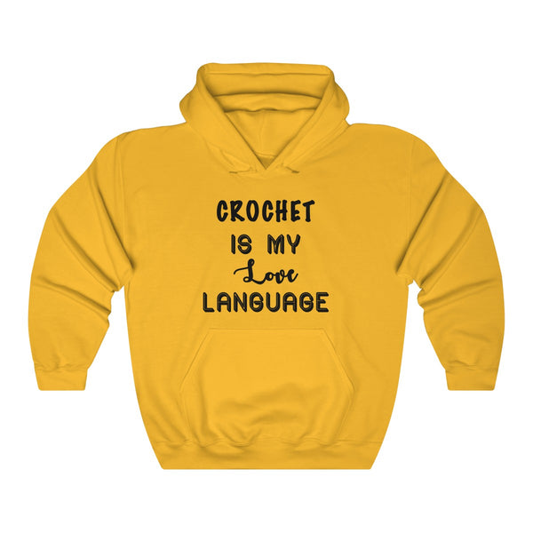 """Crochet Is My Love Language""  Unisex Heavy Blend™ Hooded Sweatshirt"
