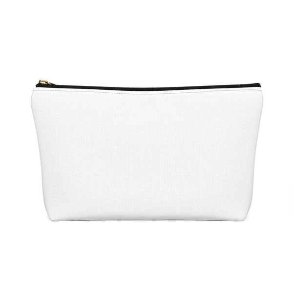 """Just One More Row"" - White Accessory Pouch"