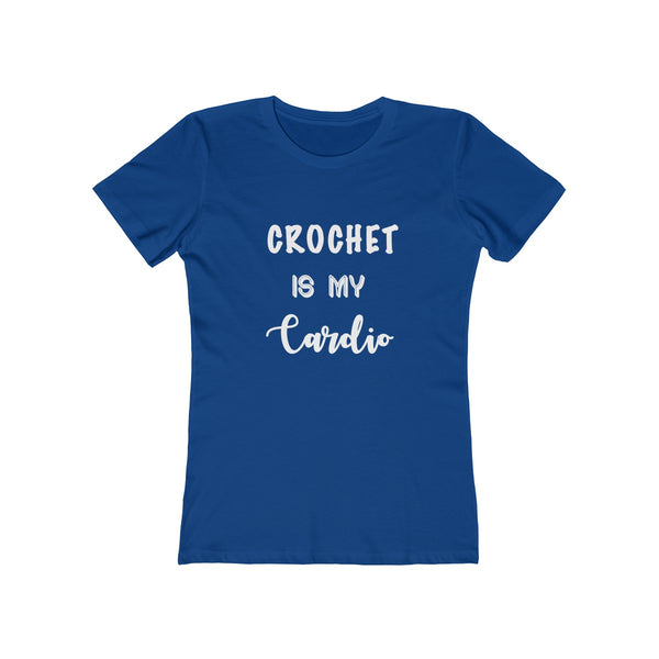 """Crochet is my Cardio"" - T-Shirt with WHITE Letters"