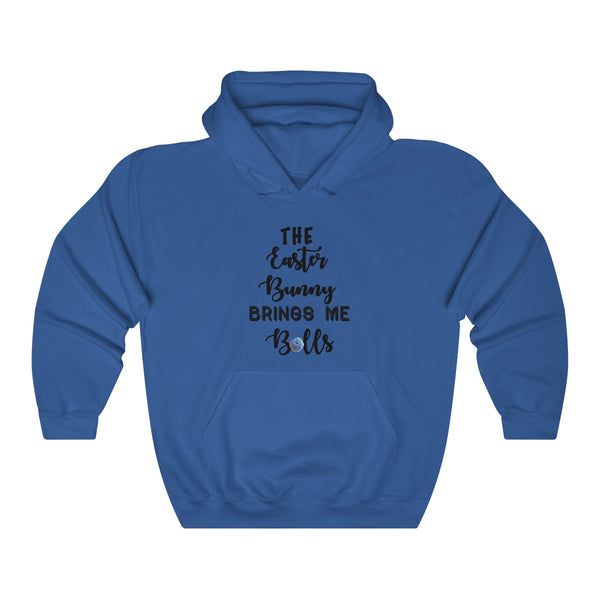 """The Easter Bunny Brings Me Balls""  Unisex Heavy Blend™ Hooded Sweatshirt"