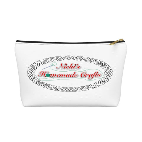 """Nicki's Homemade Crafts"" - White Accessory Pouch"