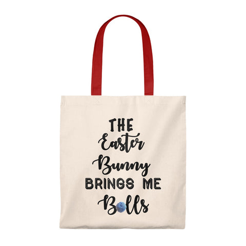 """The Easter Bunny Brings Me Balls""- Tote Bag - Vintage"