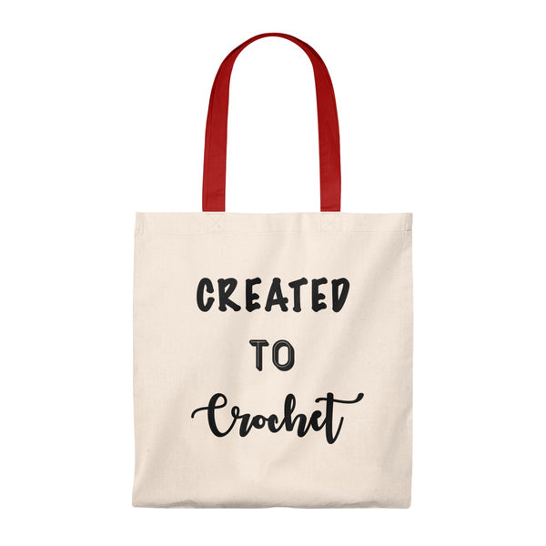 """Created to Crochet"" - Tote Bag - Vintage"