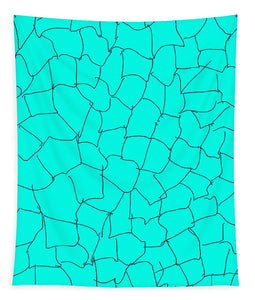 Aqua Crackle - Tapestry