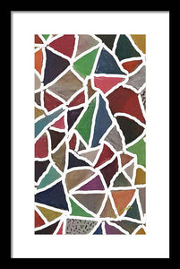 Earthly Patches - Digital Art Framed Print