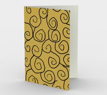 Load image into Gallery viewer, Art of Where_Greeting Card_055_Old School Swirls