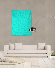 Load image into Gallery viewer, Kin Custom_001_Aqua Crackle Tapestry 60x80