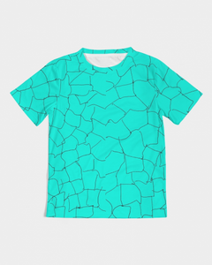 Kin Custom_001_Aqua Crackle Kids Graphic Tee