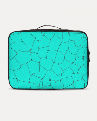 Kin Custom_001_Aqua Crackle Jetsetter Travel Case