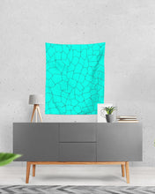 Load image into Gallery viewer, Kin Custom_001_Aqua Crackle Tapestry 51x60