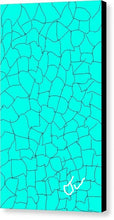 Load image into Gallery viewer, Aqua Crackle - Canvas Digital Art