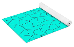 Pixels_Yoga Mat_Aqua Crackle