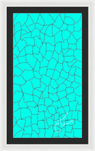 Load image into Gallery viewer, Aqua Crackle - Framed Digital Art