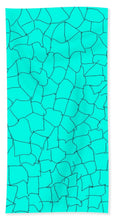 Load image into Gallery viewer, Aqua Crackle - Beach Towel