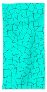 Aqua Crackle - Beach Towel