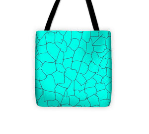 Aqua Crackle - Tote Bag