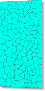 Aqua Crackle - Metal Print