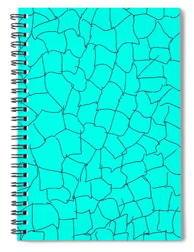 Pixels_Notebook Spiral Bond_Aqua Crackle