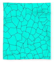 Load image into Gallery viewer, Pixels_Blanket_Aqua Crackle