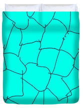 Load image into Gallery viewer, Aqua Crackle - Duvet Cover