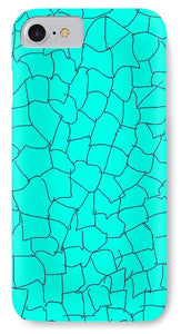 Pixels_Phone Case_Aqua Crackle