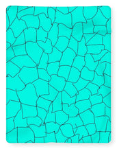 Load image into Gallery viewer, Aqua Crackle - Blanket