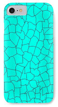 Load image into Gallery viewer, Pixels_Phone Case_Aqua Crackle
